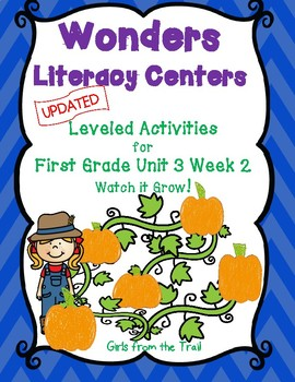 Literacy Centers for Wonders First Grade Unit 3 Week 2