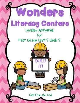 Literacy Centers for Wonders First Grade Unit 5 Week 5