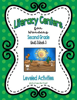 Literacy Centers for Wonders Second Grade Unit 2 Week 3