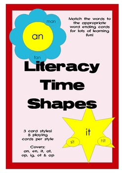 Literacy Centre Activities - Shape sound cards. (Kinder, S