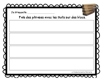 Literacy Centres - French Word Work (2/2)