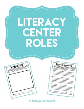 Literacy Circle Roles Print Outs