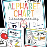 Literacy Circle Time Chart {Alphabet}