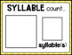 Literacy Circle Time Chart {Syllables}