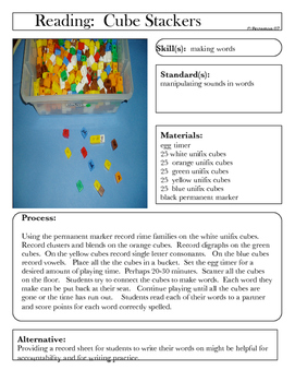Literacy Cubestackers