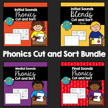 Phonics Cut and Sort Package (Initial, Medial & Final Soun