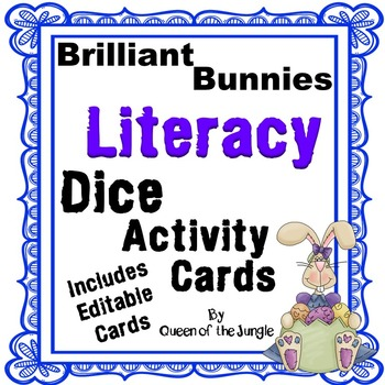 Literacy Dice Activity Cards