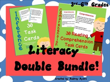 **Literacy Double Bundle** INFERENCE Task Cards/READING CO