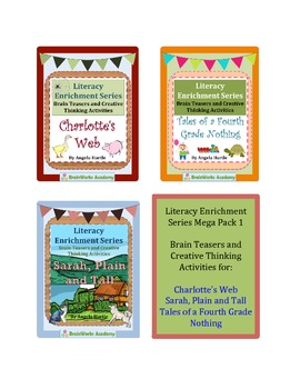 Literacy Enrichment Mega Pack 1 - Brain Teasers and Creati