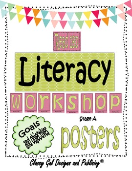 Literacy Goals and Objective Posters for the Read 180 Clas