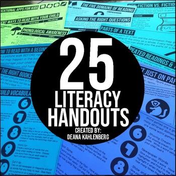 Literacy Handouts for Parents