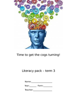 Literacy Homework booklet No. 3