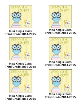 Literacy Interactive Notebook Labels: Editable