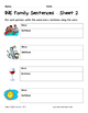 Literacy Interactive Notebook Pages - INE Word Family