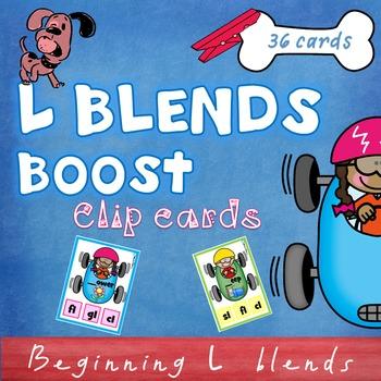 Beginning Blends L clip cards
