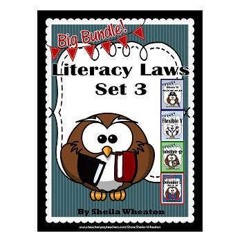 Literacy Laws Bundle - Set 3: Reading & Writing Tools for