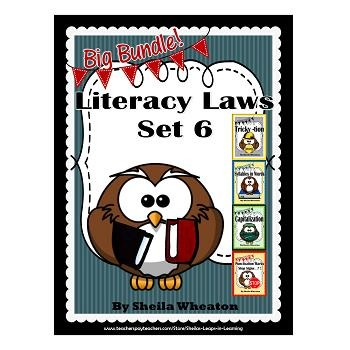 Literacy Laws Bundle - Set 6:  Reading & Writing Tools for