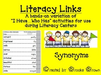 """Literacy Links"" - Synonyms (Literacy Center Activity)"