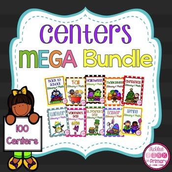 Literacy & Math Centers MEGA Bundle
