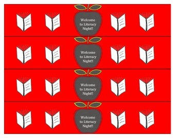 Literacy Night Water Bottle Labels