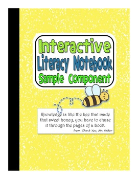 Literacy Notebook Free Component:  Tune into Your Thinking!