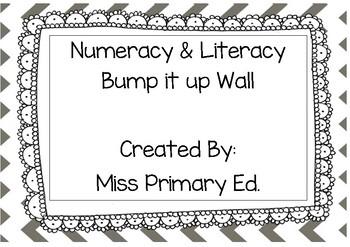 Literacy & Numeracy Bump it up Wall Chevron