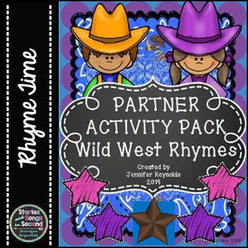Word Work Rhyming Scoot--Wild West Vocabulary Activities