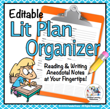 Literacy Plan Organizer for Small Groups