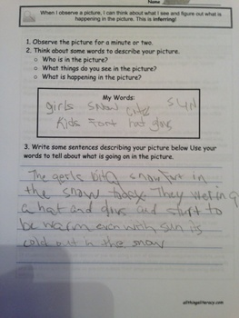 Literacy Practice (Centers): Inferring with Visuals CCSS R7