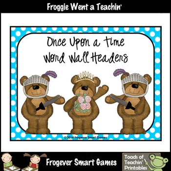 Literacy Resource--Once Upon a Time Word Wall Headers (sma