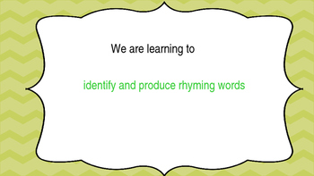 Literacy Rhyming Words Powerpoint with Medial Vowel e - Phonics