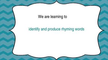 Literacy Rhyming Words Powerpoint with Medial Vowel u - Phonics