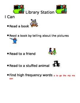 Literacy Station Objectives - Editable