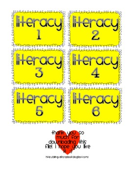 Literacy Stations {Labels}