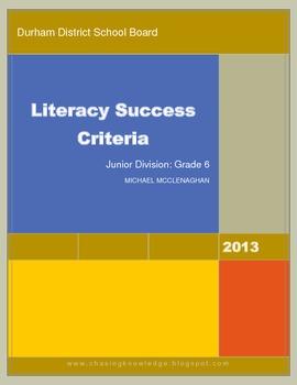 Literacy Success Criteria PREVIEW