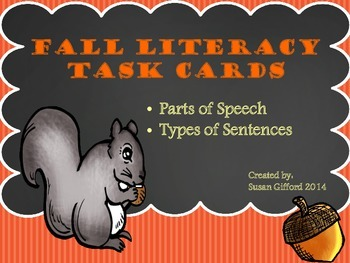Literacy Task Cards - Fall Themed