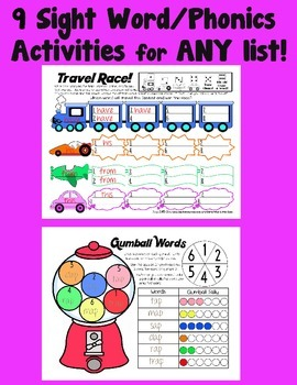 Literacy Word Work for ANY List~ Fry's +42 Phonics Skills~