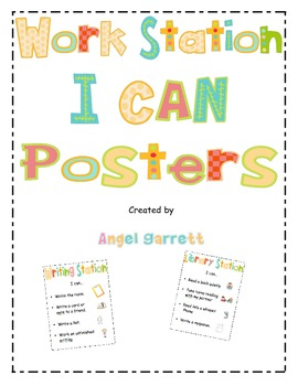 "Literacy Work Station ""I Can"" Posters"
