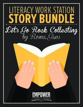 """Literacy Work Station Story Bundle: """"Let's Go Rock Collect"""