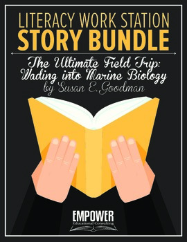 """Literacy Work Station Story Bundle: """"The Ultimate Field Tr"""