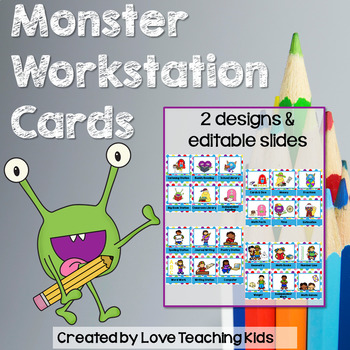 Workstation Cards and Signs- Monsters