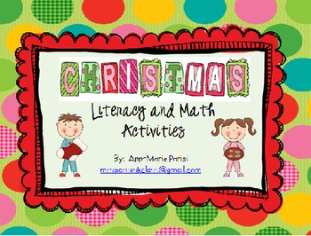 Literacy and Math Centers for Christmas