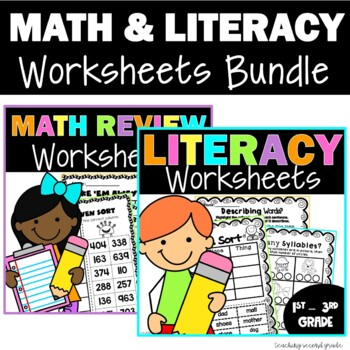 Literacy and Math Printables
