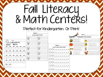 Fall centers- math and literacy