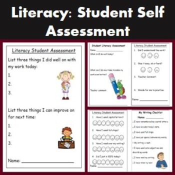 Literacy and writing self assessment templates