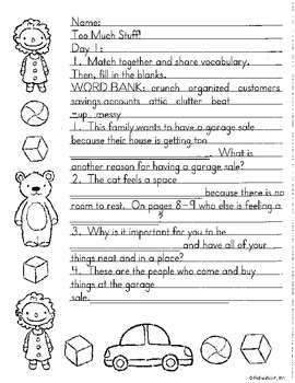 Literacy by Design Leveled Reader Pack-No Prep! Too Much Stuff- P