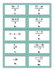 Literal Equations - Matching Activity