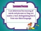 Literal Versus Non-Literal Language Resource Pack
