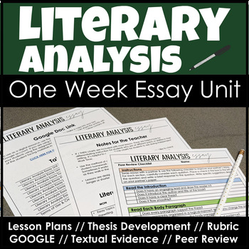 Literary Analysis Essay with Lesson Plans, Thesis Statemen