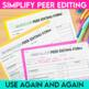 Peer Editing Made Easy - forms and handouts for an effecti